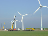 Windpark Bau